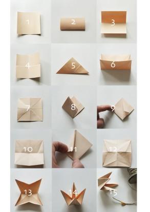 gouttes de papier origami